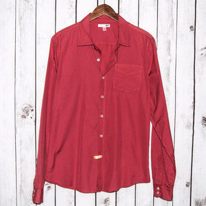 NSF Men's Button Front Shirt Pinkish Red